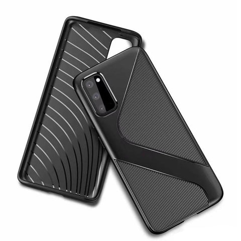 S-Line Tough case for Samsung S20 Plus - Black