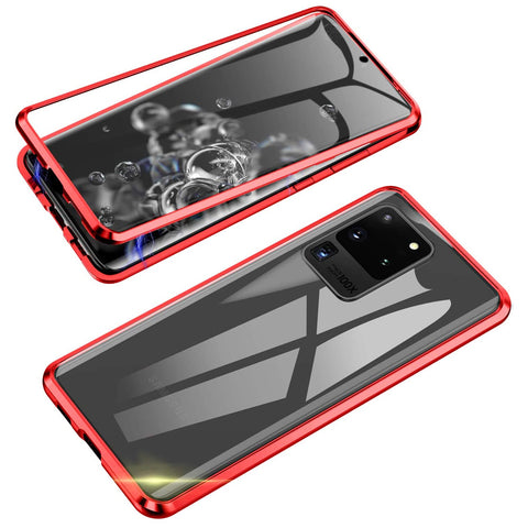 Magnetic Tough Glass case for Samsung Galaxy S20 Ultra - Red