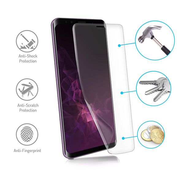 Nano film screen protector for Samsung Galaxy S9 Plus (2 pack) - screenhug