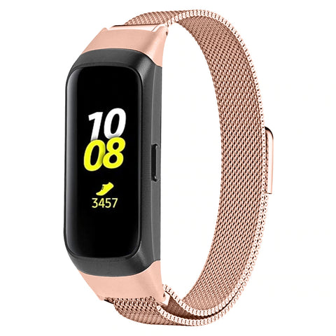 Milanese Strap for Samsung Galaxy Fit SM-R370 - Rose