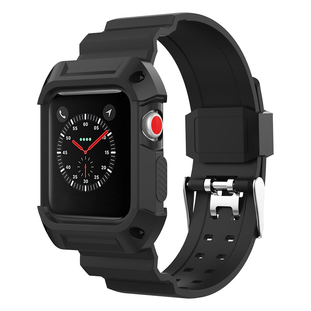 Rubber Sports Strap for Apple Watch 38/40mm - Black - screenhug