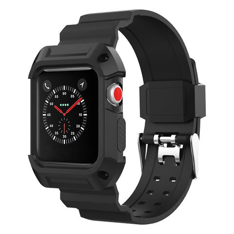 Rubber Sports Strap for Apple Watch 38mm - Black