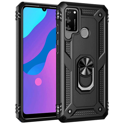 Tough Ring Case for Huawei Y6P - Black