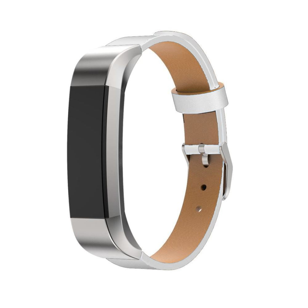 Leather Strap for Fitbit Alta HR - White - screenhug