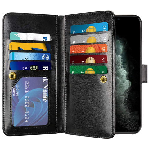 Big Wallet case for iPhone 11 Pro Max- Black