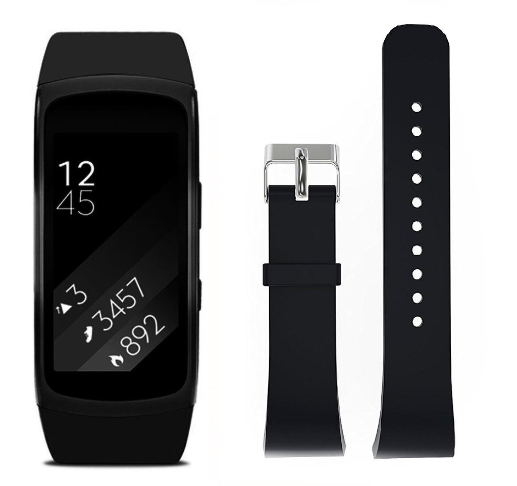 Rubber Strap for Samsung Gear Fit 2 - Black - screenhug