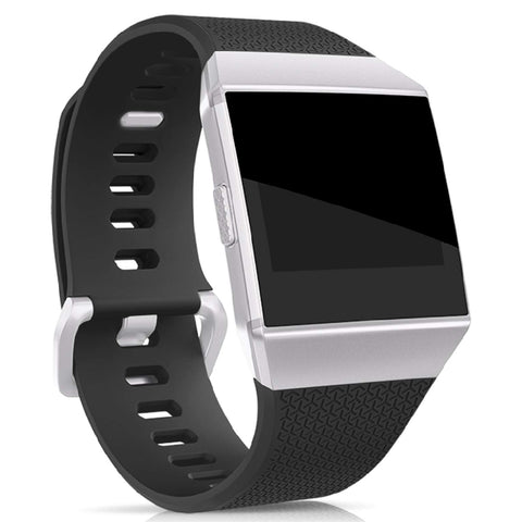 Rubber Strap for Fitbit Ionic - Black - screenhug