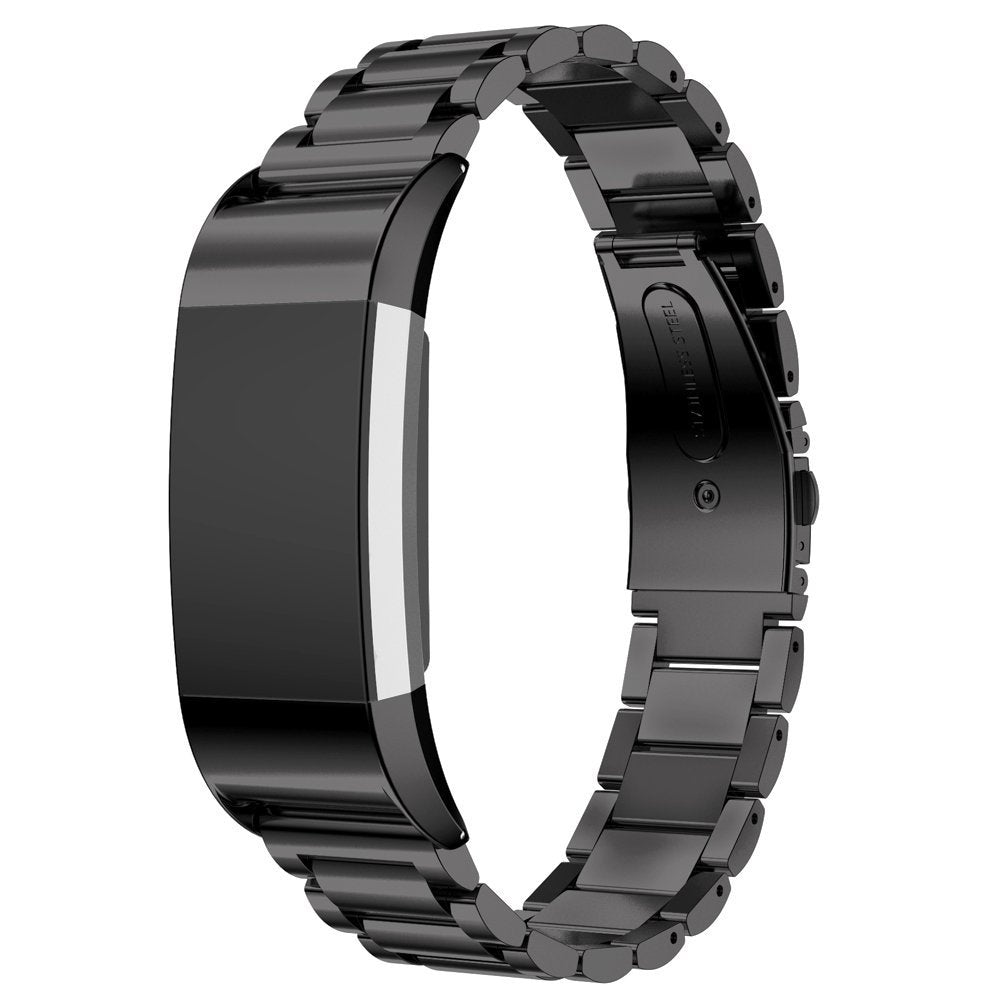 Metal Strap for Fitbit Charge 2 - Black - screenhug