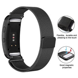 Milanese Strap for Samsung Gear Fit 2 - Black - screenhug
