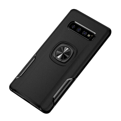 Carbon Tough Ring Case for Samsung Galaxy S10 - Black