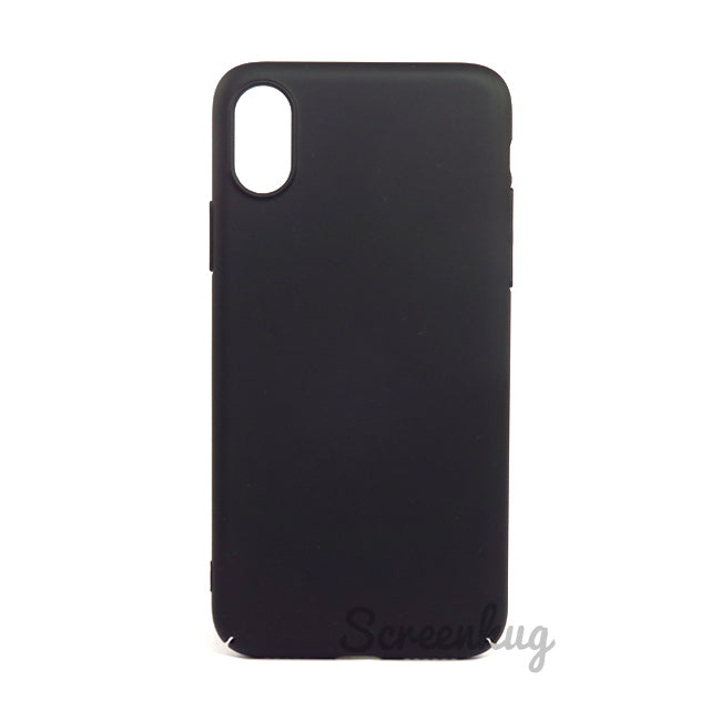Thin shell case for iPhone X - Black - screenhug