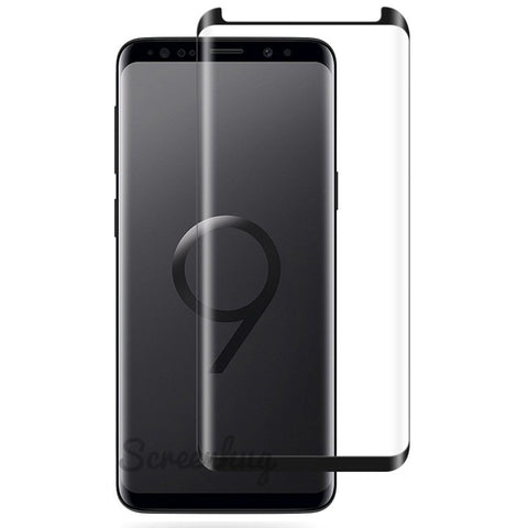Samsung Galaxy S9 Glass Screen Protector - Case Black