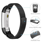 Milanese Strap for Fitbit Alta HR - Black - screenhug