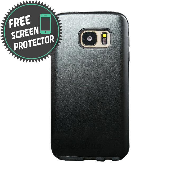 Alloy Hybrid case for Samsung Galaxy S7 Edge - Black - screenhug
