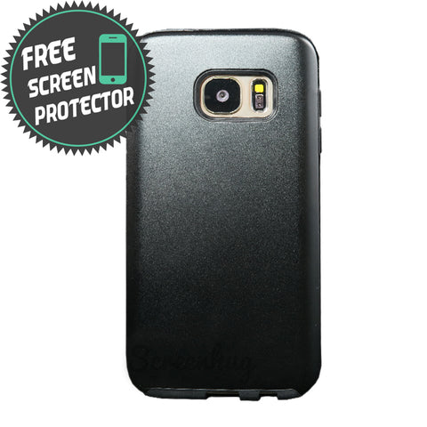 Alloy Hybrid case for Samsung Galaxy S7 Edge - Black