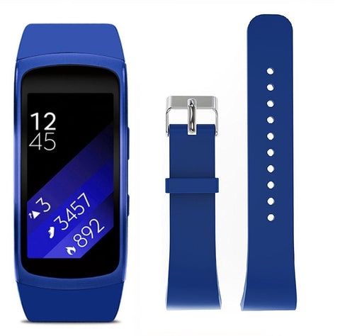 Rubber Strap for Samsung Gear Fit 2 - Blue