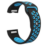 Rubber Sports Strap for Fitbit Charge 2 - Blue - screenhug