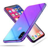 Gradient thin case for iPhone XS Max - Blue - screenhug