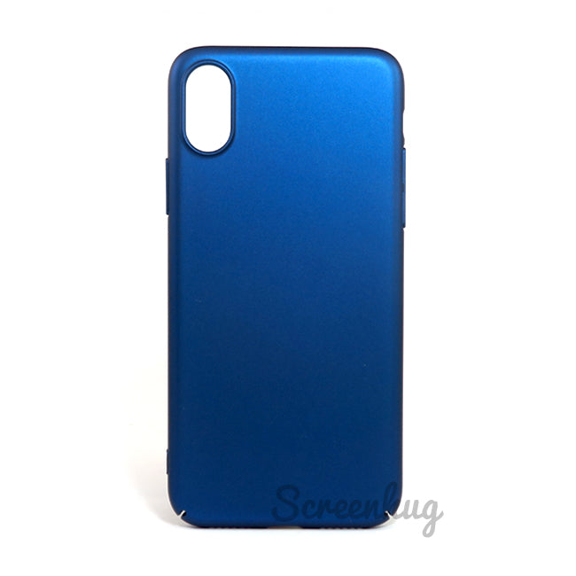 Thin shell case for iPhone X - Blue - screenhug