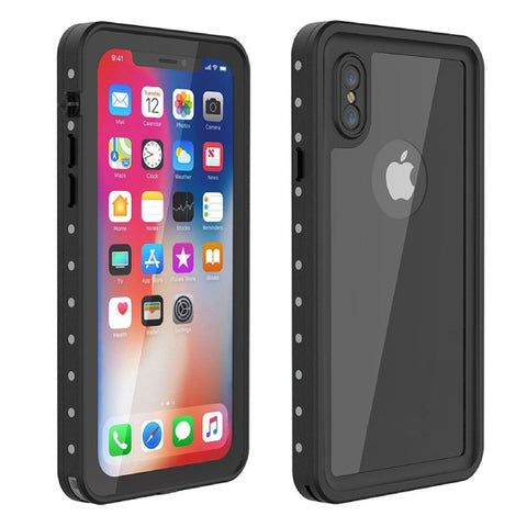 Waterproof cover Redpepper for iPhone X/XS - Black - screenhug