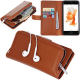 Detachable Coin Wallet Cover for iPhone 7/8 Case - Brown - screenhug