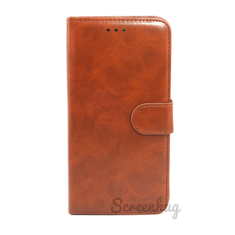 Detachable Slim Wallet for iPhone 7 Plus & iPhone 8 Plus - Brown