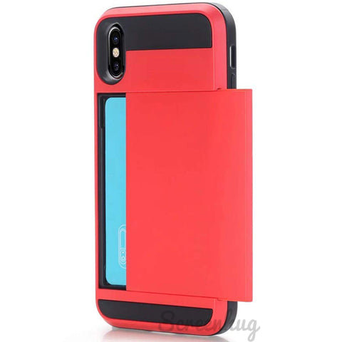 Card Pocket case for iPhone XS Max - Red