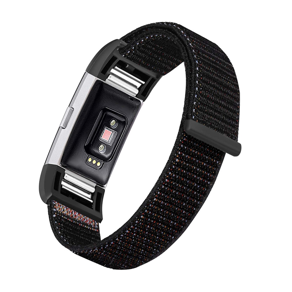 Nylon Sports Strap for Fitbit Charge 2 - Black – Screenhug