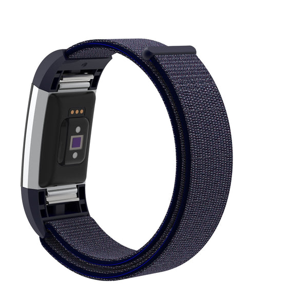 Nylon Sports Strap for Fitbit Charge 2 - Blue - screenhug