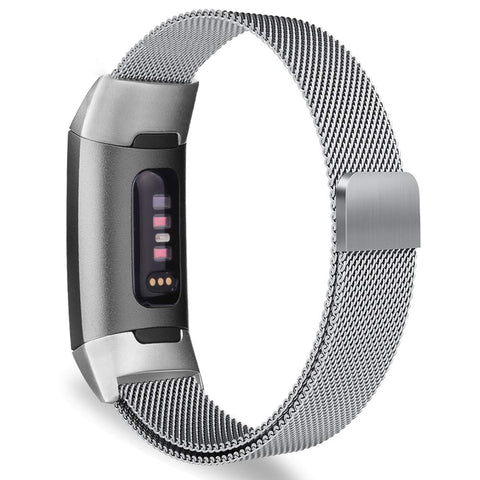 Milanese Metal Strap for Fitbit Charge 3 / 4 - Silver