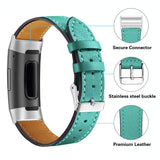 Leather Band for Fitbit Charge 3 - Teal - screenhug