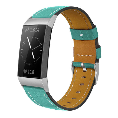 Leather Band for Fitbit Charge 3 - Teal