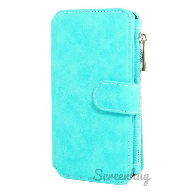 Coin Wallet Case for iPhone X - Aqua - screenhug