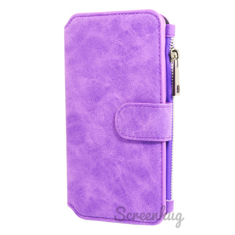 Coin Wallet Case for iPhone X - Purple