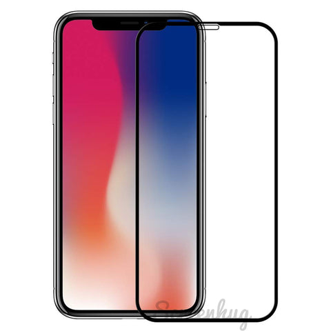 iPhone XS Max Curved Glass Screen Protector - Black