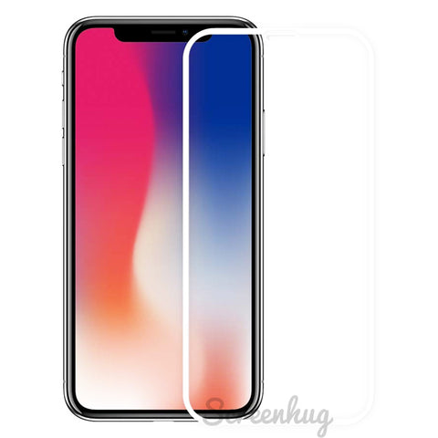 iPhone XS Max Curved Glass Screen Protector - White