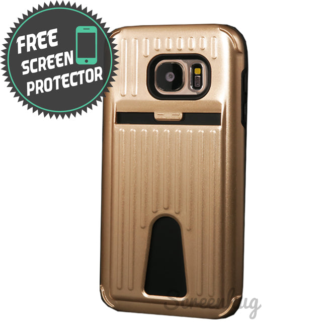 Metallic Tough cover for Samsung Galaxy S7 Edge - Gold - screenhug