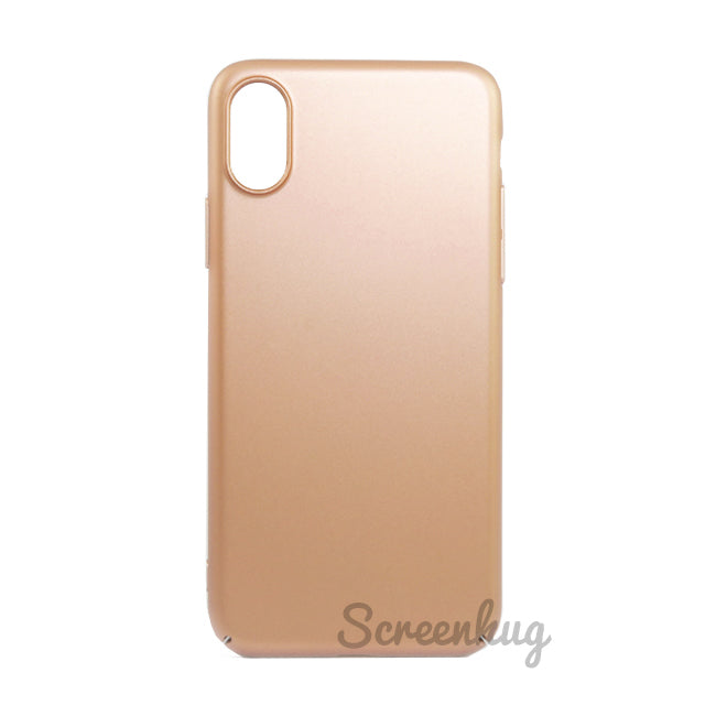 Thin shell case for iPhone X - Gold - screenhug
