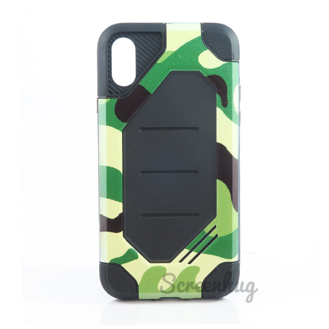 Rugged Tough Case for iPhone X - Green Camo - screenhug