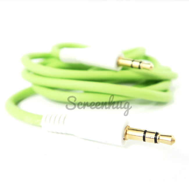 Aux cable 3.5mm - Green - screenhug