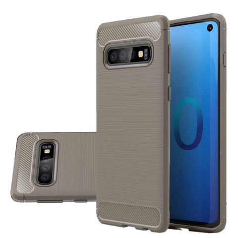 Metallic Tough Case for Samsung Galaxy S10 - Grey