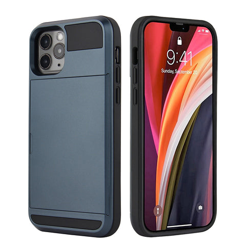 Tough Card case for iPhone 12 / 12 Pro - Blue