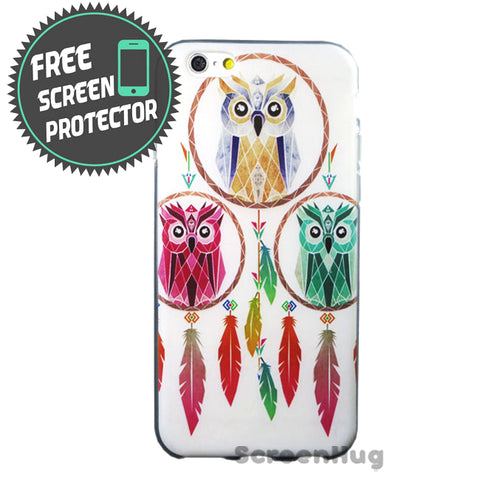 Tri Elemental Owl Cover for iPhone 6 Case