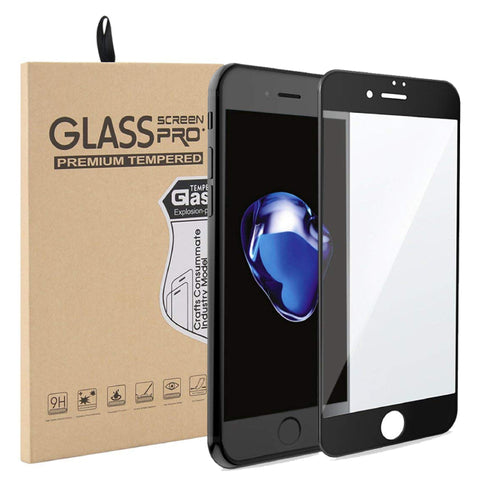 iPhone 7/8 Plus Curved Glass Screen Protector - Black