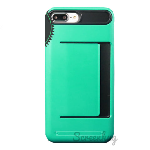 Money Clip for iPhone 7 Plus & iPhone 8 Plus - Green