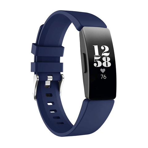 Rubber Strap for Fitbit Inspire - Blue (Large)
