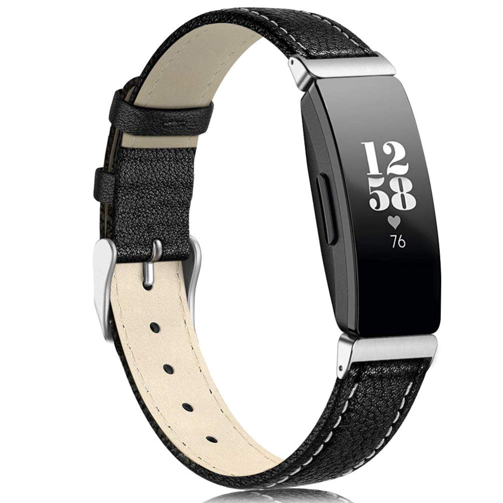 Leather Strap for Fitbit Inspire - Black - screenhug