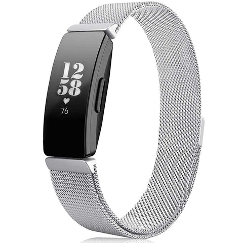 Milanese Strap for Fitbit Inspire - Silver - screenhug