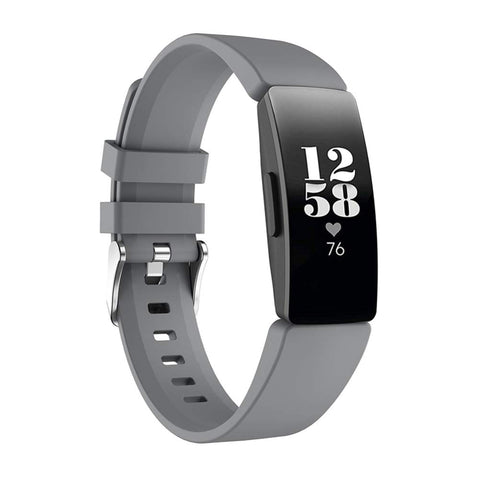 Rubber Strap for Fitbit Inspire - Grey (Large)