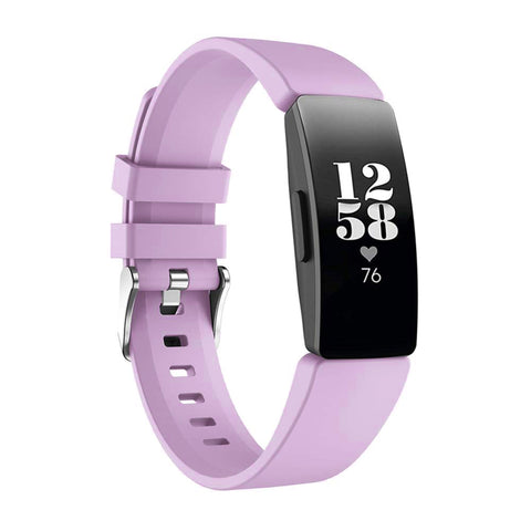 Rubber Strap for Fitbit Inspire - Purple (Large)